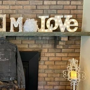 """""""LOVE"""" lighted sign"""